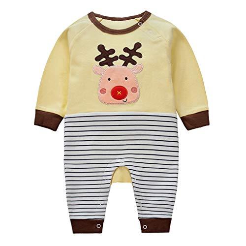 Baby Strampler Spielanzug Jungen Mädchen Schlafanzug Baumwolle Overalls Baby-Nachtwäsche, 6-9 Monate (8 Jungen Schlafanzüge Weihnachten Größe)