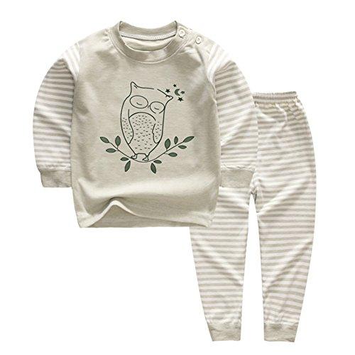 100% Coton Baby Boys Girls Ensemble Pyjama Manche Longue Vêtements de Nuit (6M-5 Ans) (Tag50 (6-12 Mois), Motif 4)