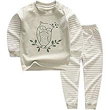100% algodón Baby Boys Pijamas Set ropa de dormir de manga larga (6M-5 Años )