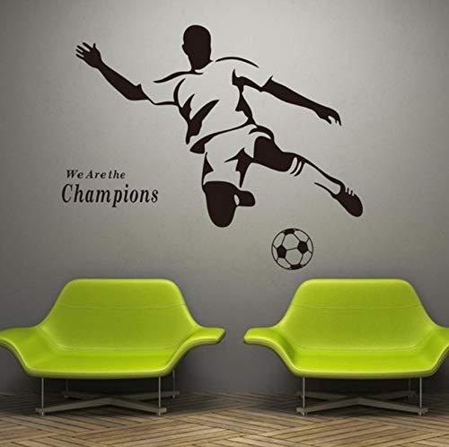 Finloveg Wandtattoo Champion Sport Wandaufkleber Vinyl Schablonen Für Wände Junge Fußball Fußball KinderzimmerDekoration 42X39 Cm