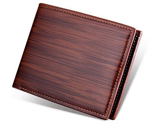 Katech Männer Business Geldbörse Geld und Kartenhalter Geldbörse Multifunktions-Taschen für den täglichen Gebrauch oder als Geschenk braun
