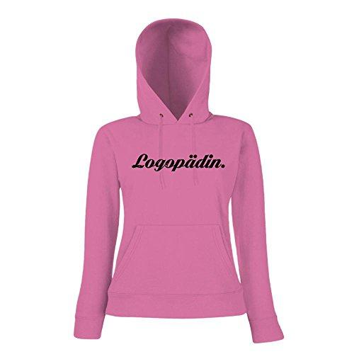 Logopädin #1 Hoody | Berufe-Hoody | Traumberuf | Beste Logopädin | Frauen | Kapuzenpullover Pink