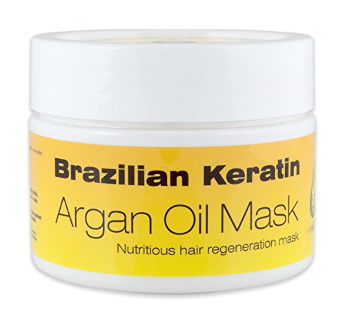 DermaGen 1001815973 Masque Brésilien à l'Huile d'Argan Kératine Bio 260 ml - Lot...