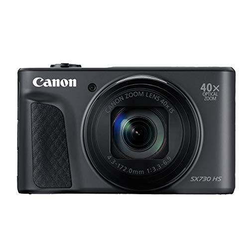 Canon PowerShot SX730 HS Digitalkamera (20,3 MPCMOS-Sensor, 40 fach Zoom, Full HD, WLAN/blautooth, 7,5cm (3 Zoll)) schwarz