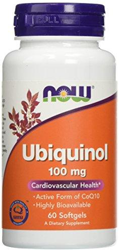 Now Foods   Ubiquinol (aktives CoQ10)   100 mg   60 Weichkapseln   glutenfrei   sojafrei Zellulare Systeme
