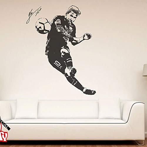 zqyjhkou Sticker Football Joueur De Football Argentine Leo Creative Vinyle Sticker Mural Décor À La Maison 85cmX127cm