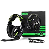 Lakeness G813 Gaming-Headset, Gaming-Headset, PS4-Headset mit Stereo-Surround-Sound, Xbox One Headset mit Geräuschunterdrückung, funktioniert auf PC, PS4, Xbox One