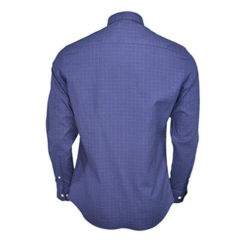 Chemise à carreaux Hackett bleu marine pour homme Bleu