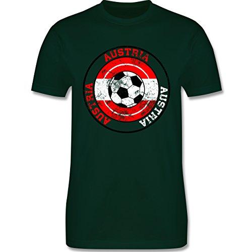 EM 2016 - Frankreich - Austria Kreis & Fußball Vintage - Herren Premium T-Shirt Dunkelgrün