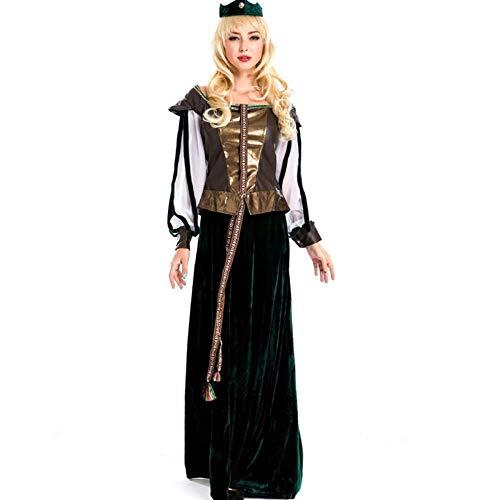 TUWEN Halloween-KostüM Retro Gericht Outfit Arabische Prinzessin Schneewittchen KostüM Halloween Prom Queen KostüM