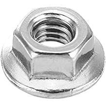 Rishil World Suleve M4SN3 50Pcs M4 304 Stainless Steel Hex Serrated Flange Lock Nuts