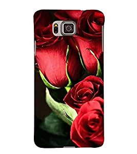 BUNCH OF RED ROSES DEPICTING NATURE 3D Hard Polycarbonate Designer Back Case Cover for Samsung Galaxy Alpha G850