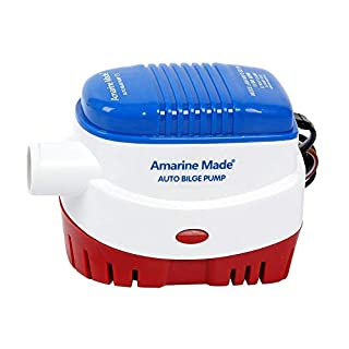Amarine-made Automatic Submersible Boat Bilge Water Pump 12v 1100 gph Auto with Float Switch-new
