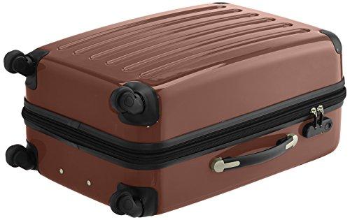 HAUPTSTADTKOFFER - Alex - 2er Koffer-Set Hartschale glänzend, 65 cm, 74 Liter, Graphit-Schwarz Braun