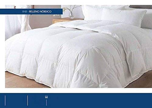 Relleno Nordico de fibra 350 Gr/m tacto plumón en liquidación (Cama de 150 cm (240x220 cm))