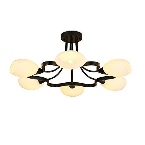 Pflaumen-glas-anhänger (GWM Amerikanische schmiedeeiserne deckenleuchte Wohnzimmer esszimmer Glas Lampe Schlafzimmer Pflaume Schlafzimmer Lampe stumm schwarz original lichtquelle zu senden (größe : A:70 * 30cm))
