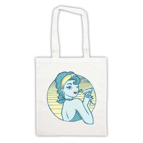 My Icon Art & Clothing , Borsa da spiaggia  Uomo-Donna Bianco