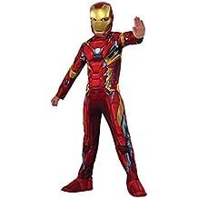 17a9993f048 Rubies Iron Man Classic Civil War Disfraz para niños L 620581