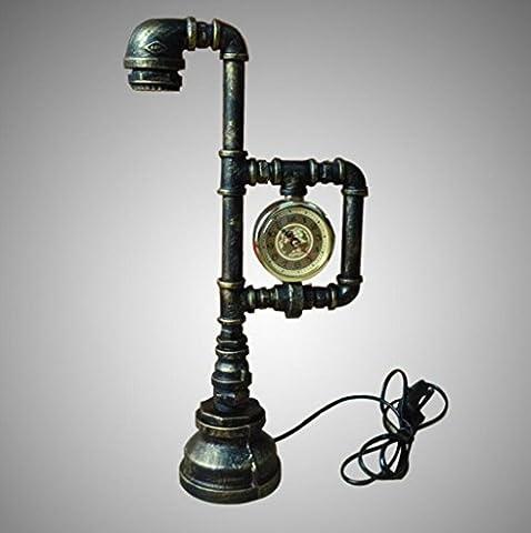 LD-Vintage Steampunk Pipe Wall Light 2 Lampes Design Water Gauge