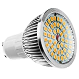 led bulbs, GU10 6W 48x2835SMD 480-560LM 3000-3500K Warm White Light LED-Spot-Lampe (11-240V) long life ( Connector : B22 , Lichtfarbe : Warmes Weiß-1 )