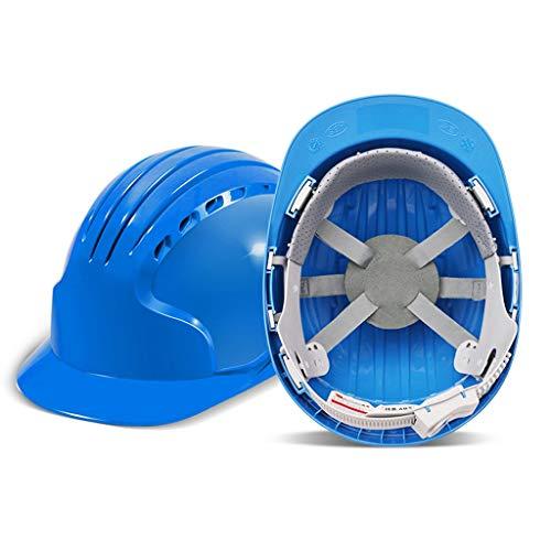 Schutzhelme Schutzhelm 8-Punkt-Verkleidung Konstruktionstechnik Kollisionsschutz Anti-Schock-Schutz Absturzsicherung Verstärkungshelm Mehrfarbig Optional (Color : Blue)