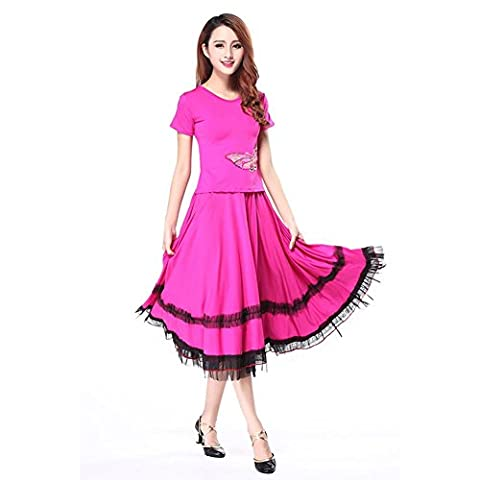 Costumes Ballroom Dancer Halloween - Wgwioo Women Latin Square Moderne Dance Dress