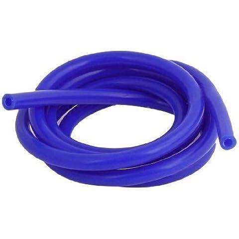 Manguera de Tubo de Vacío de Silicona Azul de 2 Metros - Diámetro Interno de 6mm & Externo de 11mm para Coche