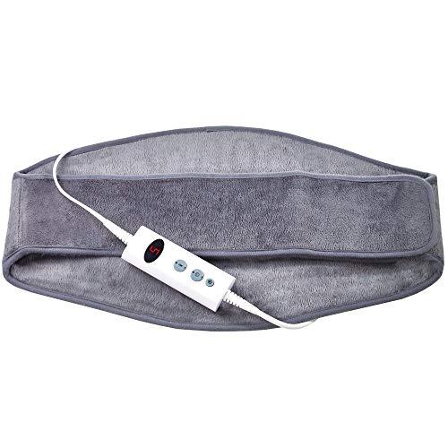 Promed Heizgürtel HGP-1.7, Wärmegürtel für Rücken & Nieren, Wärmekissen mit Abschaltautomatik, Heizkissen mit Überhitzungsschutz, 10 Temperaturstufen, schnelles Aufwärmen, waschbar