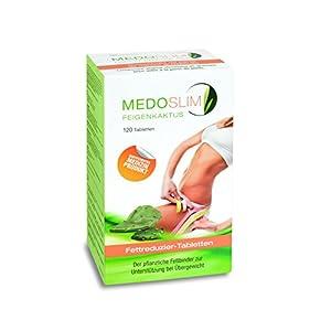 Medoslim® Feigenkaktus Fettreduzierer (Pflanzlicher Fettbinder zum Abnehmen bei Übergewicht), 120 Tabletten