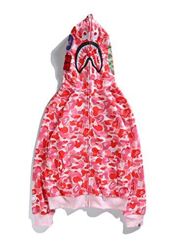 ZDFGHW434 Bape Hoodie Camo Shark|Bape Camo Shark Couple Men Women Camouflage Shark Hooded Sweater Girls Boys