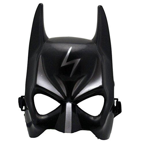 Oramics Coole Kindermaske in Schwarz Silber mit Blitz Fasching Karneval Verkleidung