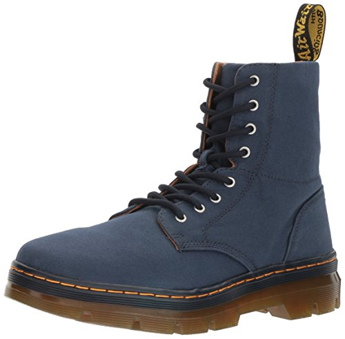 Dr.Martens Womens 8-Eyelet Combs Canvas Canvas Boots Indigo