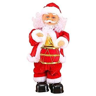 Klinkamz – Muñeca de Papá Noel con Juguete de música Cantante y Juguete de Navidad, Juguetes eléctricos, saxofón, Guitarra
