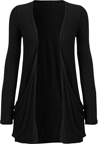 Ladies Long Sleeve Boyfriend Cardigan Womens Top 8 - 22