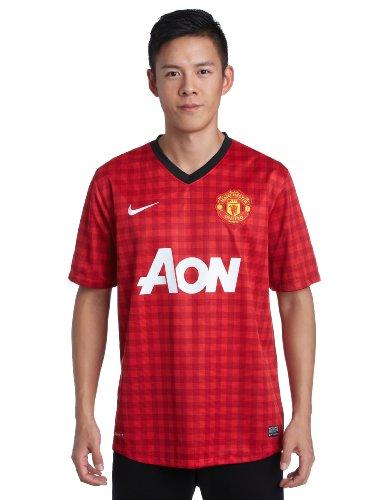 Nike, Maglia Uomo Manchester United Replay Maglia, Rosso (Diablo Red/Black/White), XL