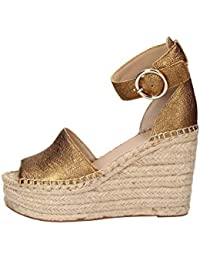 Guess Kaleey/Zeppa (Wedge)/Leather, Zapatos con Tira de Tobillo para
