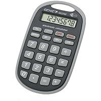 Genie 982 AM - Calcolatrice tascabile da viaggio, con gancio per appenderla, display a 8 cifre, colore: Nero/Grigio - Confronta prezzi