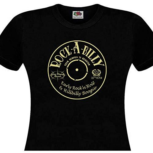 TYML Mode T-Shirt Femme Disque Vinyle (Hillbilly Mann Kostüm)