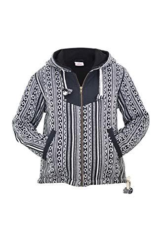 ie Damen Hippie Jacke Dicke Jacke gefütterte Jacke Fleecejacke als Alternative Kleidung - Bhutan m ()