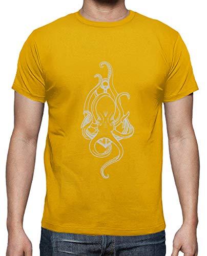 tostadora - T-Shirt Octopus - Uomo Senape XL