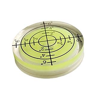 Nivel de burbuja redondo para instrumentos de medición, 32 x 7 mm, color blanco