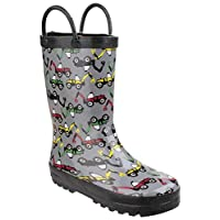 Cotswold Puddle Boot Boys Synthetic Material Wellies Crocodile