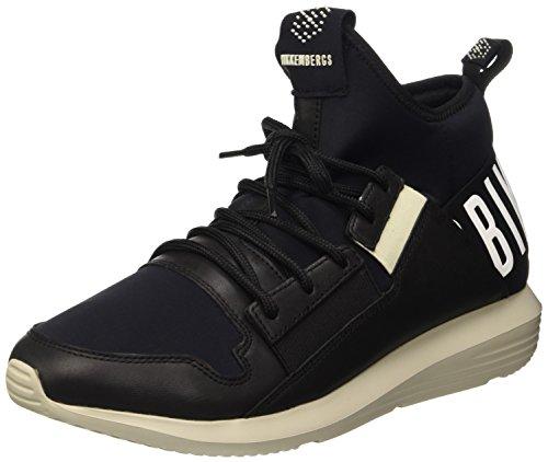 Bikkembergs Speed 712 Mid Shoe M Lycra/Leather, Scarpe a Collo Alto Uomo, Nero, 42 EU