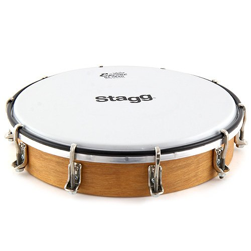 STAGG TAWH 080T 8TUNABLE WOODEN HAND DRUM  W/ TUNING KEY & REMO HEAD