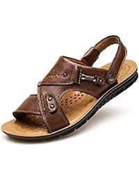 baotou männer leder sandalen im sommer männer freizeit sport atmungsaktiv antiskid strandschuhe,40,gelb