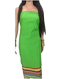 Kurti Material Blouse Fabric Pure Cotton colour fast, solid green, multicolour panel