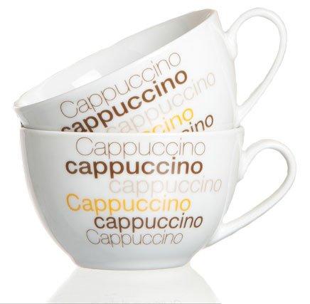 Ritzenhoff & Breker Cappuccino Set di tazze di porcellana set da tazze di cappuccino anche come caffè tazze di caffè della tazza cappuccino di occhiali einsetzbar, lavabile in lavastoviglie