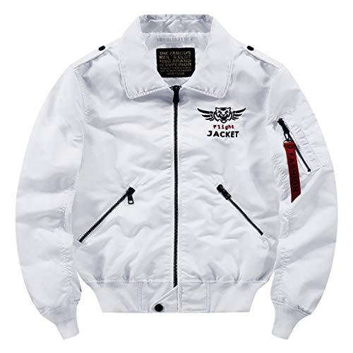 Zolimx Herren Übergangsjacke Herrenjacke Jacke gefüttert mit Stehkragen Sportjacke Outdoor, Männers Lässige Mode Reine Farbe Plus Size Zipper Outdoor Sport (Übergröße Officer Kostüm)