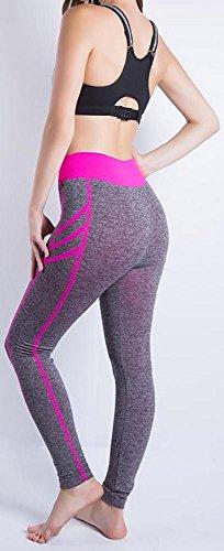 JIASHA Absorbono le donne Yoga Power Flex Yoga Pantaloni Nine Pantaloni 7