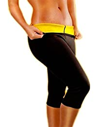 Pantalones de neopreno, se ajustan al cuerpo, pantalones de fitness, Deporte, color negro, tamaño large